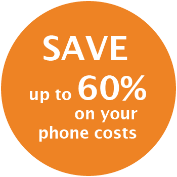 Save up to 60% on phone costs